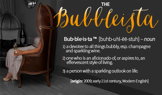 The definition of a Bubbleista. ©TheBubbleista