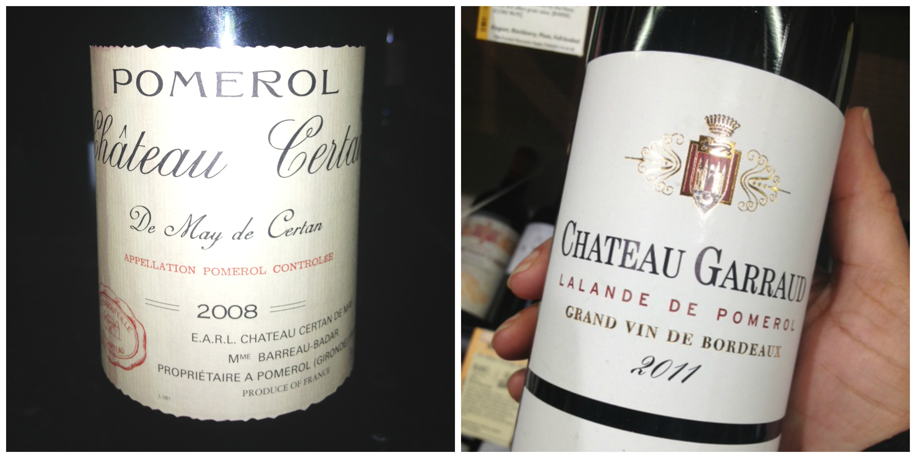 Bordeaux wine collage