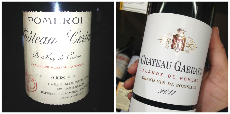Bordeaux wine collage
