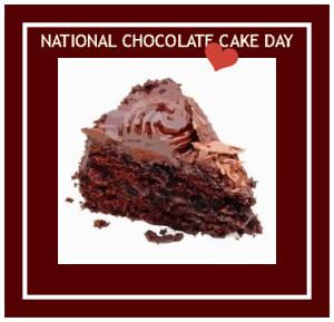 National Chocolate Cake Day image from NationalDayCalendar.com