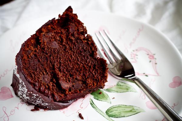 Spicy Chocolate Bourbon Bundt Cake