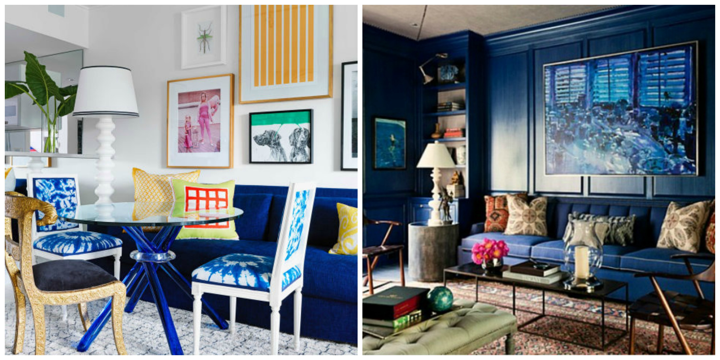 Blue Interior Design Collage 2015 Trends