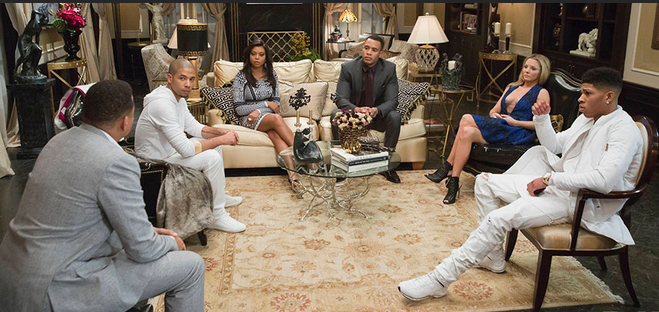 Lucious gathers the family to announce he is ill {photo courtesy Fox.com}