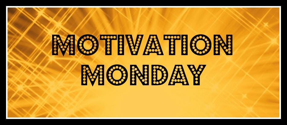 Motivation Monday banner (gold)