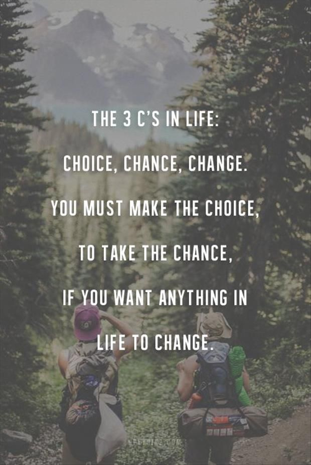 The 3 Cs in life