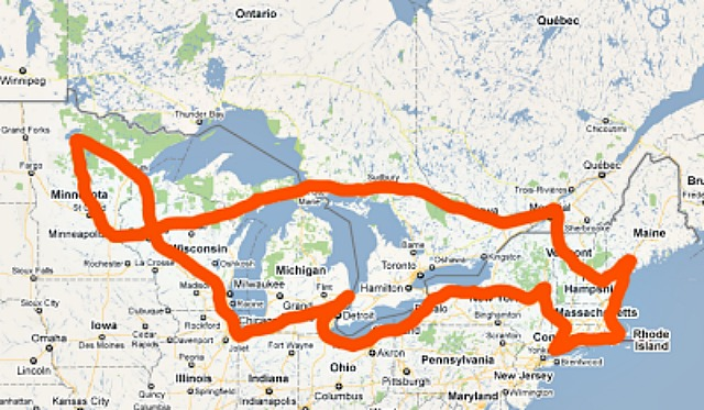 How your trip from NYC to Canada could look without a travel plan in place. {image courtesy of brittanyesther.com}