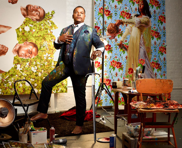 Kehinde Wiley paint covered suit
