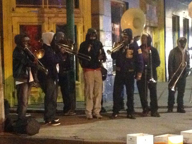 NOLA band on street corner