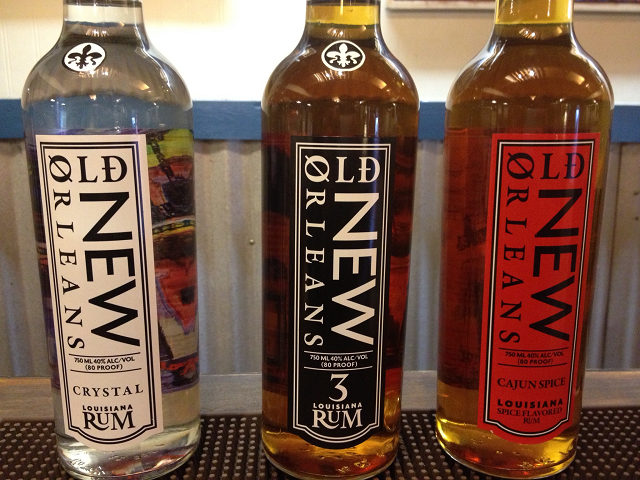 A deliciously boozy trio from Old New Orleans Rum {copyright Davon D. E. Hatchett}