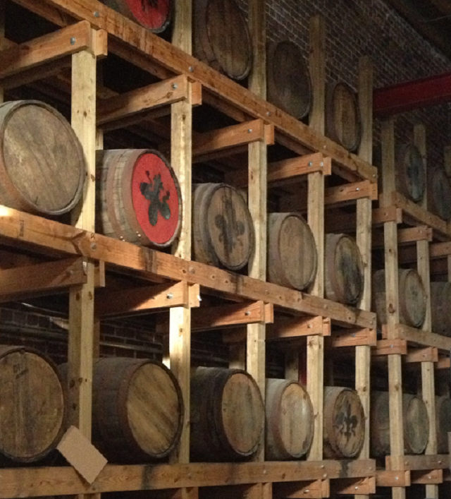 Barrels of booze showcased on the Old New Orleans Rum tour. {copyright Davon D. E. Hatchett}