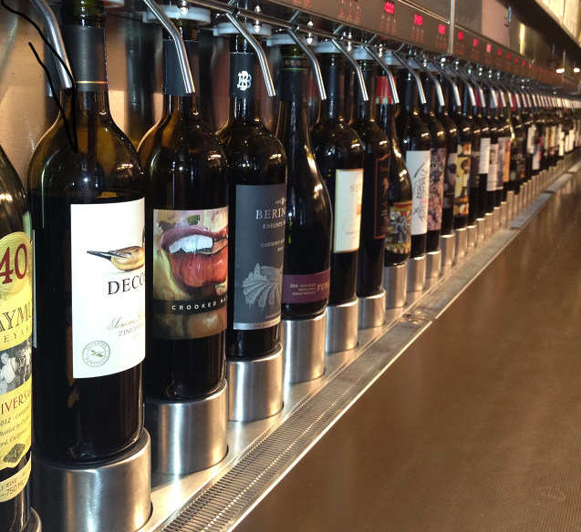 """Decisions, decisions..."" A veritable plethora of wine at your fingertips at W.I.N.O."