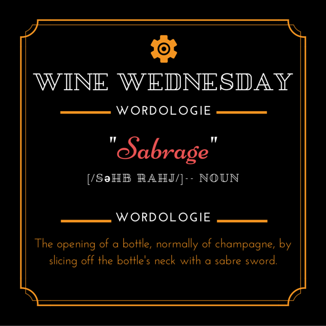 Wine Wed Word Sabrage defn