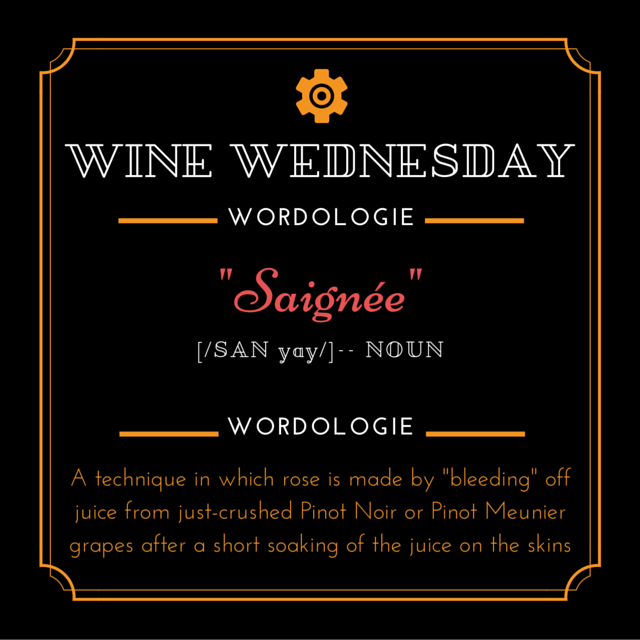 Wine Wed Word Saignee def