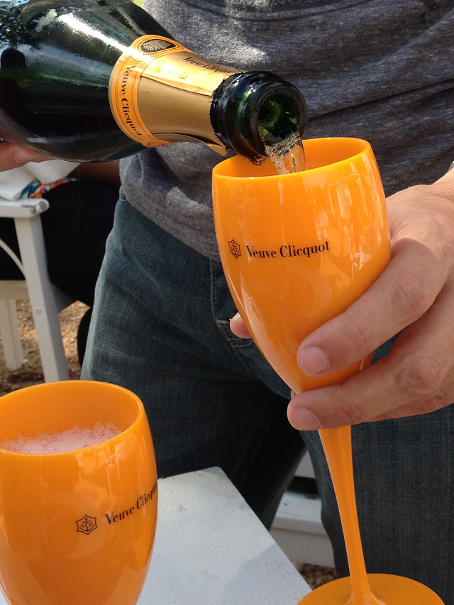 Veuve being poured