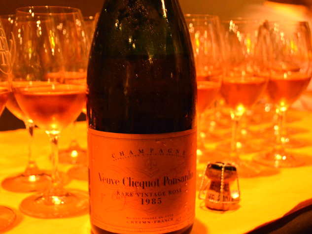 The elusive, often heard of but seldom seen 1985 Rare Vintage Rosé {photo © Jamie Glover Dabbs}