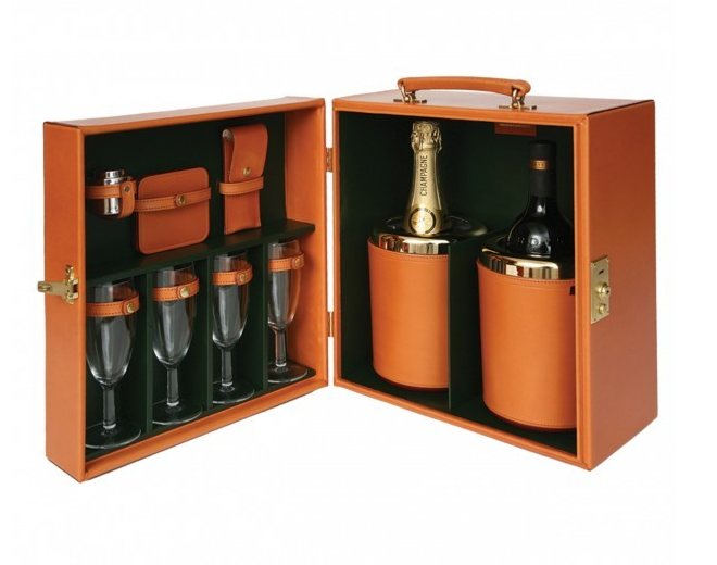 Double Champagne Travel Case (resized)