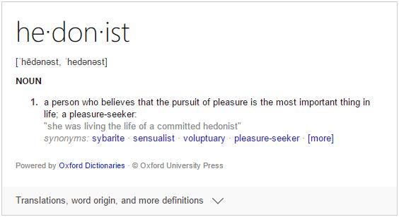 Hedonist definition