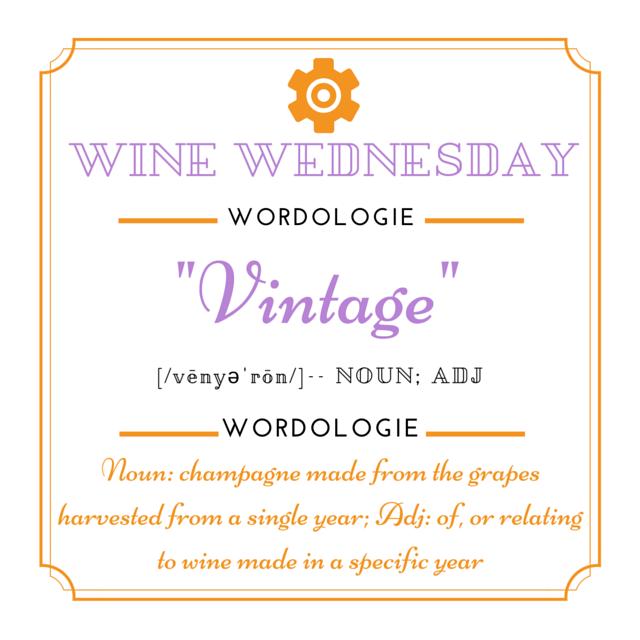 Wine Wed Word Vintage definition