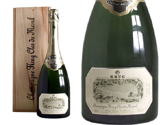 Krug Clos de Mesnil 1995 sml bottle and close up