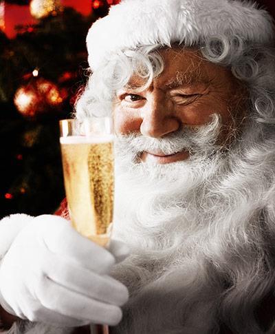 Santa Champagne Flute