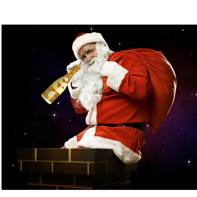 Santa with bottle and sack