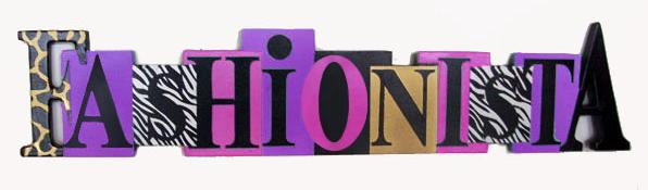 Fashionista block letters