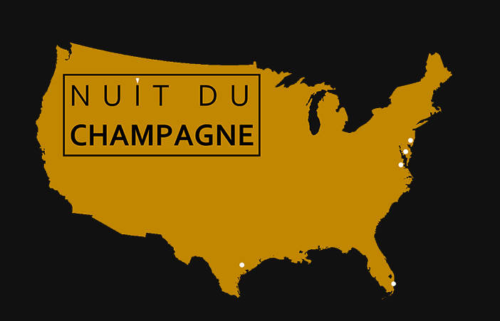 Nuit du Champ tour map