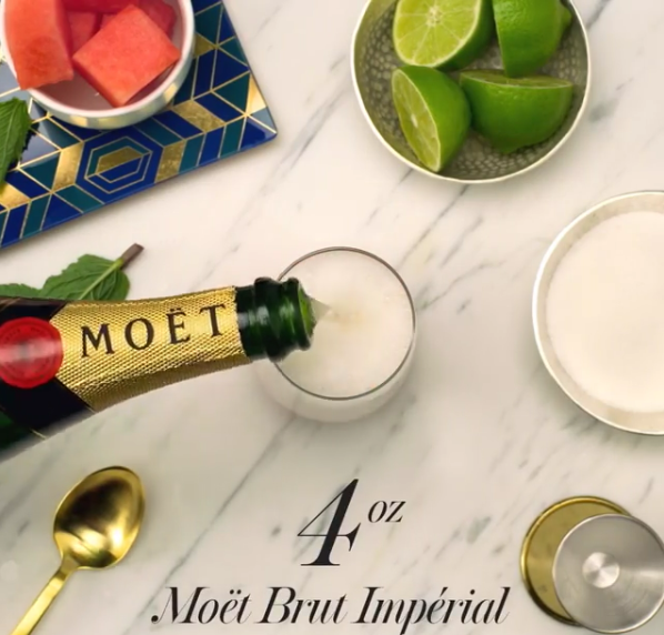 Moet Watermelon Mint Mojito (wording)