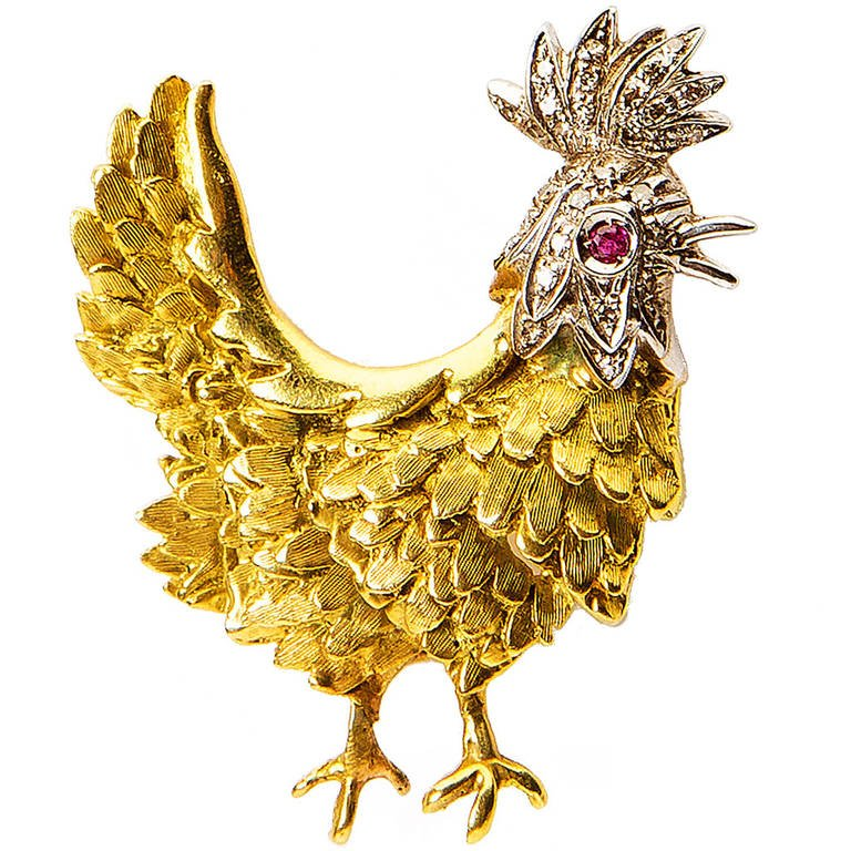 Year of Rooster Tiffany Rooster Jewelry