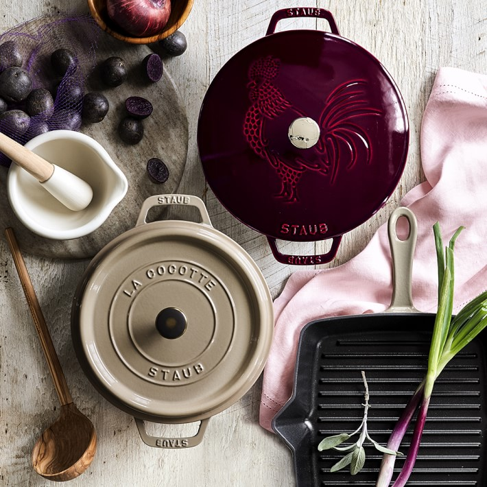 Year of Rooster Williams Sonoma Staub pot 2 design