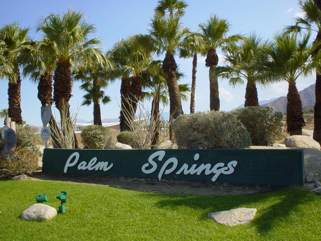 PSP Palm Springs signage
