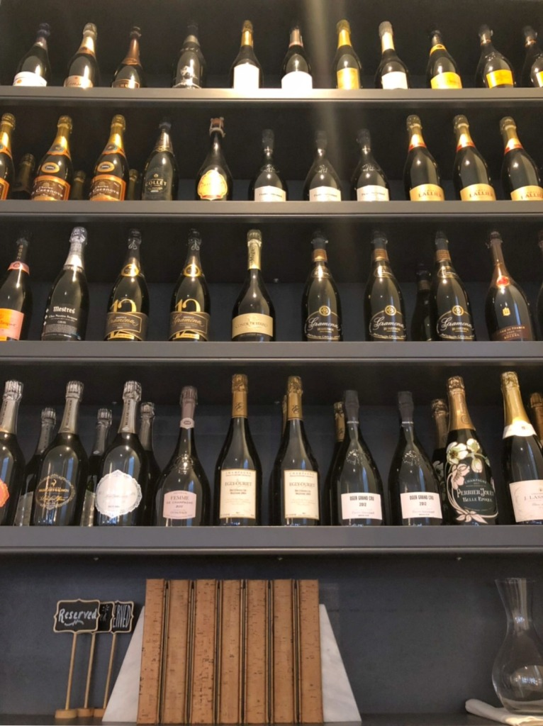 Effervescence Champagne bar stocks an amazing variety of champagne houses and sparkling wines