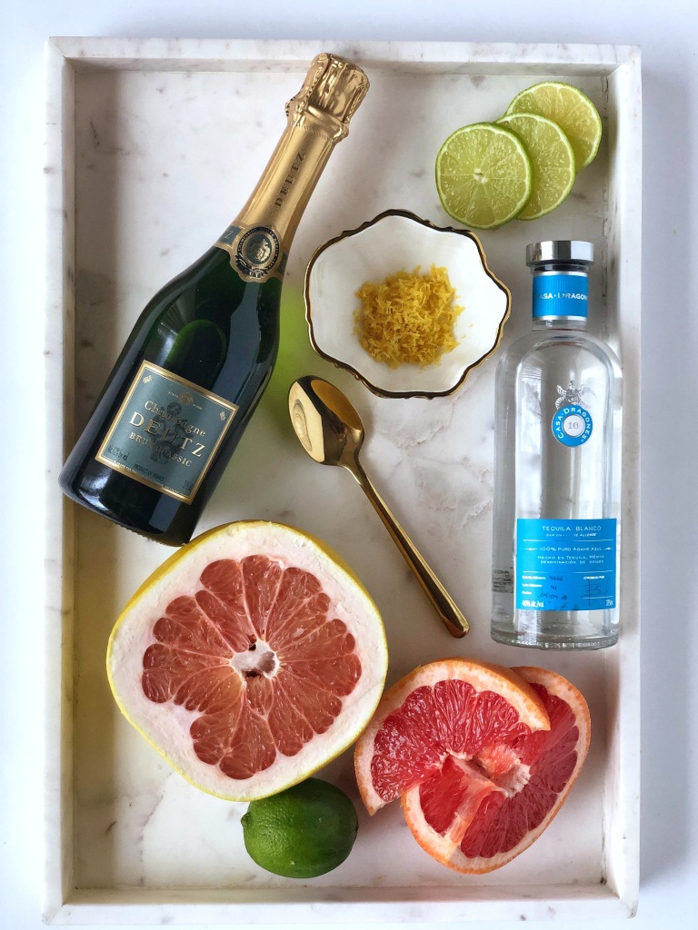 PALOMIMOSA-flatlay ingredients on marble tray