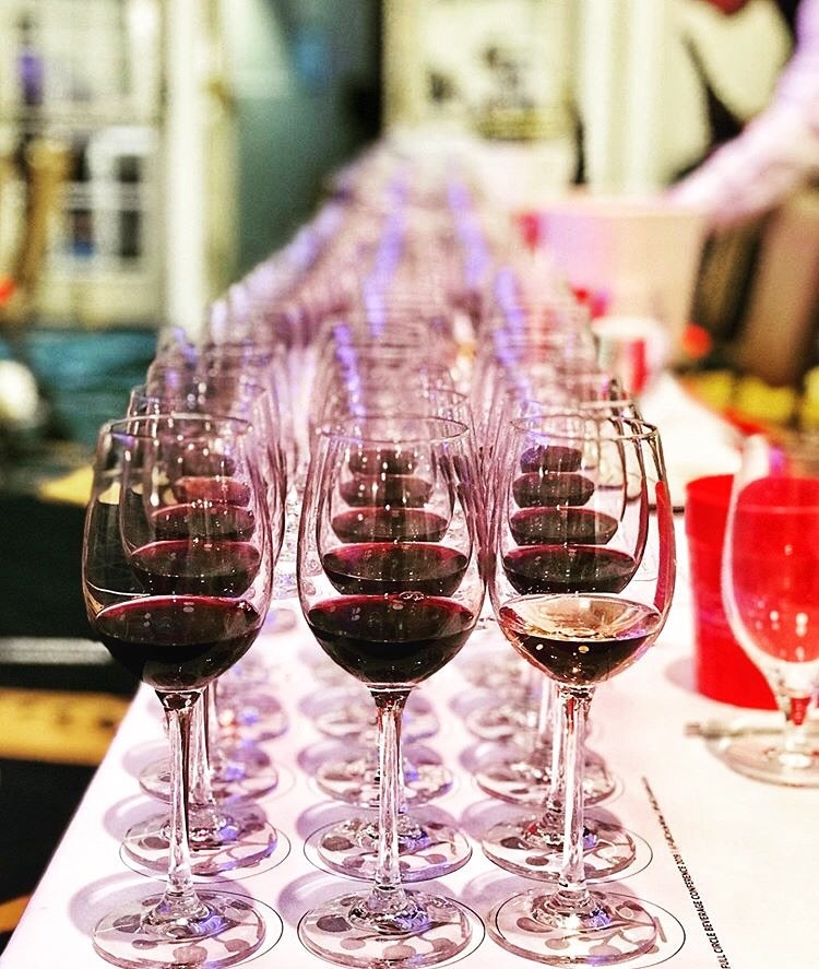 Rock A Wine Tasting red wine shot (image copyright TJ Douglas)