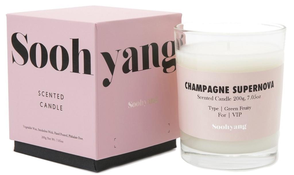 Soohyang Champagne supernova candle FULL
