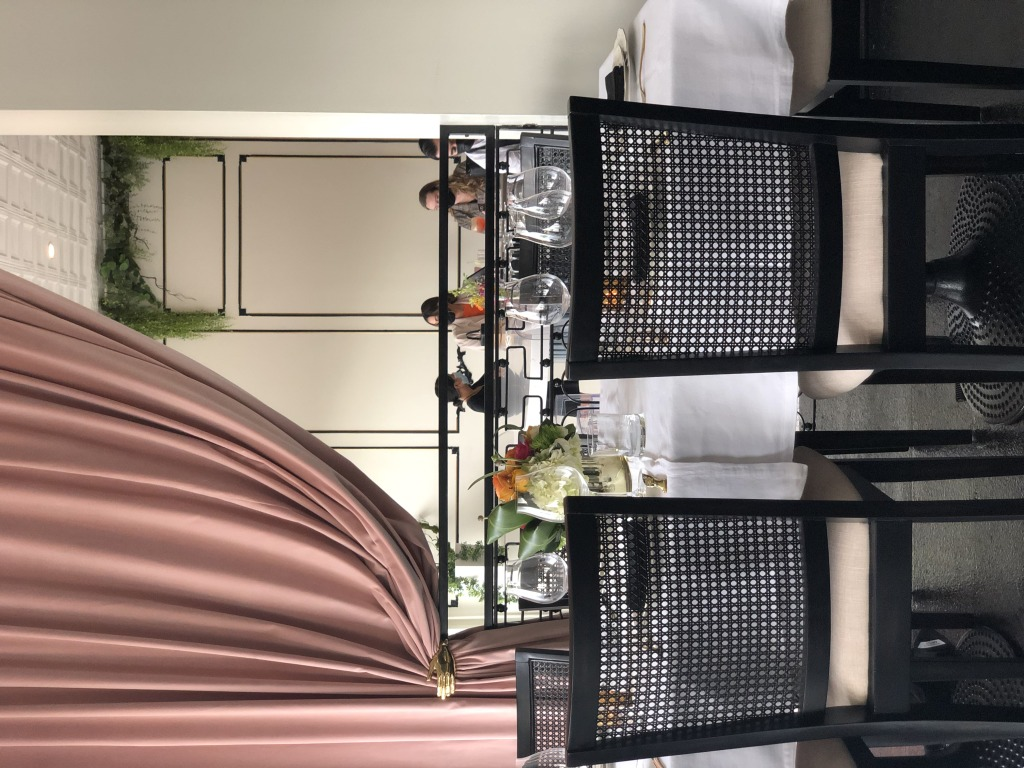 AME dining room drapes