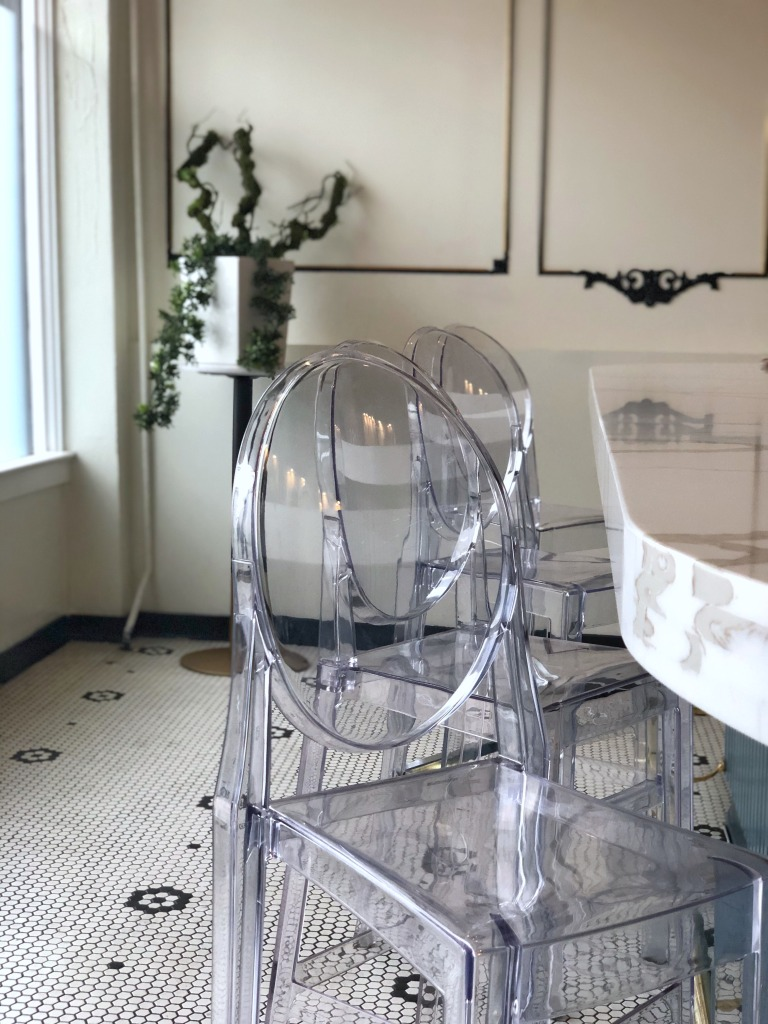AME ghost chairs