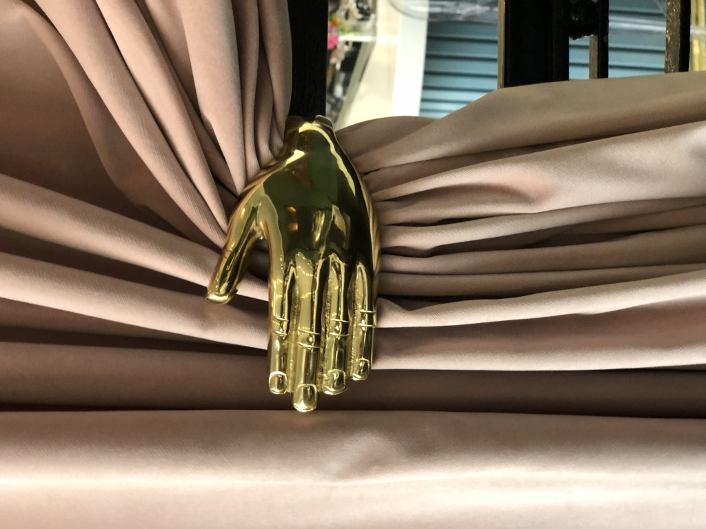 AME golden hand drapes
